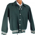 1950's Green Wool Wilson Athletic Jacket