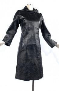 60's Black Leather Mod Spy Jacket