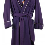1950's Purple Wool Robe/Smoking Jacket