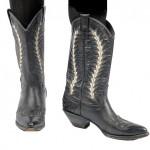 Vintage 80's Black/White Cowboy Boots
