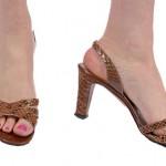 Vintage 70's Ferragamo Snakeskin Sandals