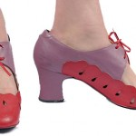 Vintage 60's Mod Pink Purple Mary Janes