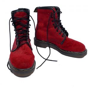 Vintage 90's Red Velvet Doc Martens Boots