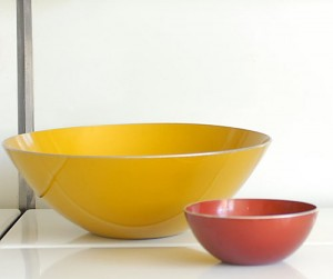 Big Yellow Emalox Aluminum Bowl