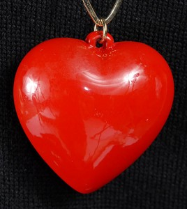 1970's Puffy Heart Necklace