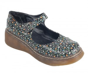 Vintage 90's Floral Doc Martens inspired Mary Janes